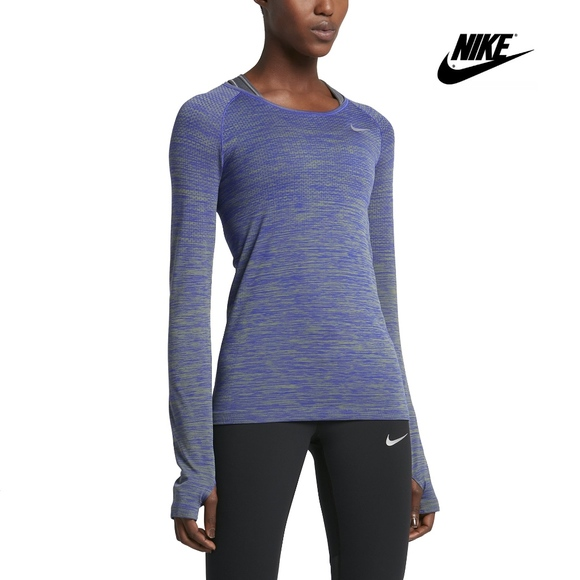 748dfb6690d67 Nike Tops | Drifit Knit Womens Longsleeve Running Top | Poshmark